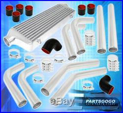 Universal 2.5 Polished Aluminum Intercooler Piping Kit Coupler Tbolt Clamps
