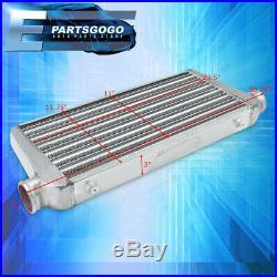 Universal 30.75X11.75X3 Tube Fin Big Turbo Intercooler Aluminum Silver Jdm
