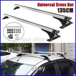 Universal 53'' Car Roof Rack Cross Bar Luggage Carrier With Antitheft Lock 135cm