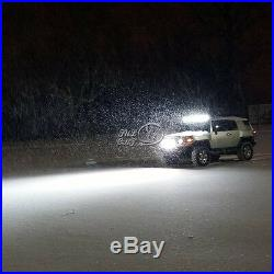 White 50/52INCH 672W Curved LED Work Light Bar Spot Flood Offroad Truck 4WD ATV