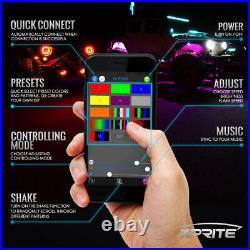 Xprite 8PCS RGB LED Rock Lights Multicolor Neon LED Light For Underglow Off Road